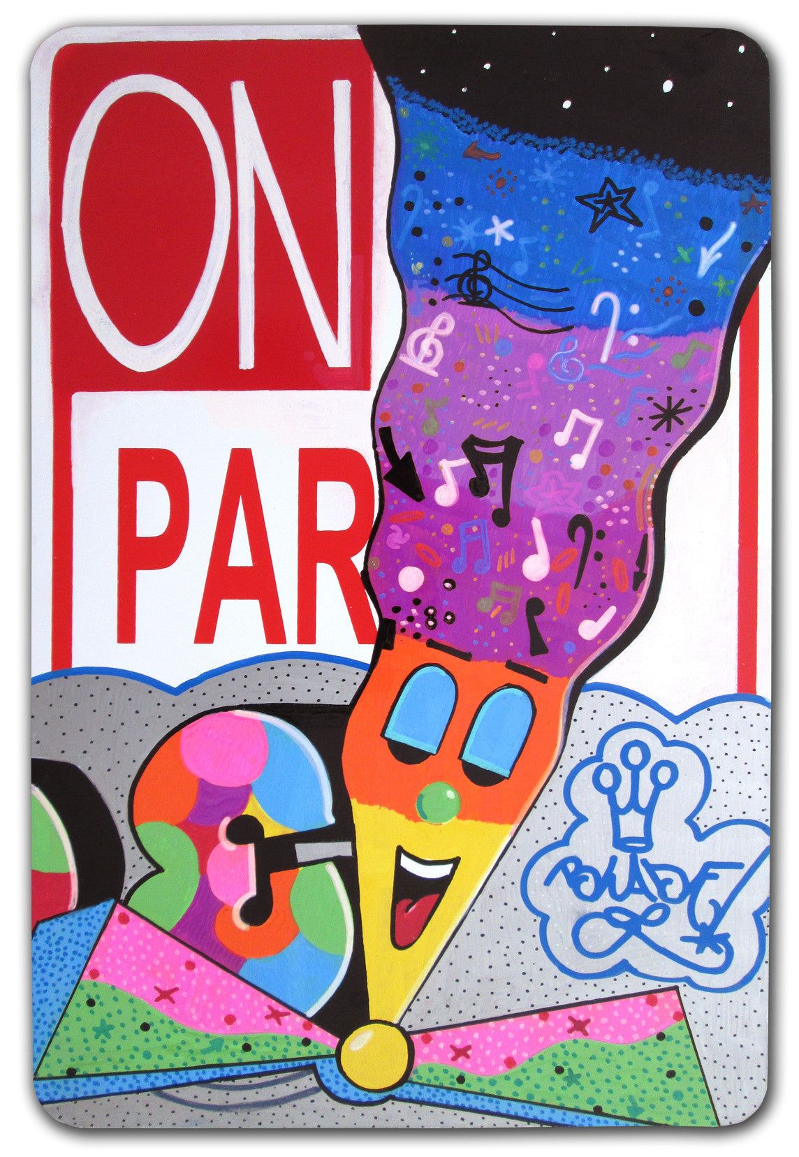 "BLADE - ""On Par""- No Parking Sign"