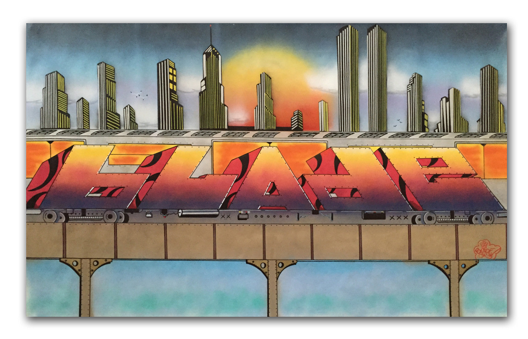 "BLADE - ""King of Graffiti in NYC""- Painting"