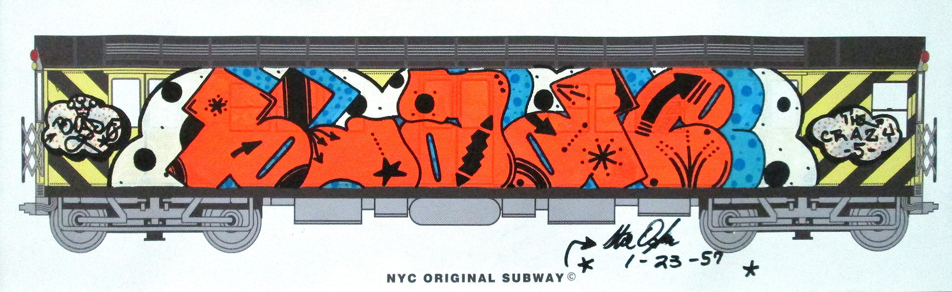 "BLADE - ""NYC Original Subway""- Piece on Canvas"