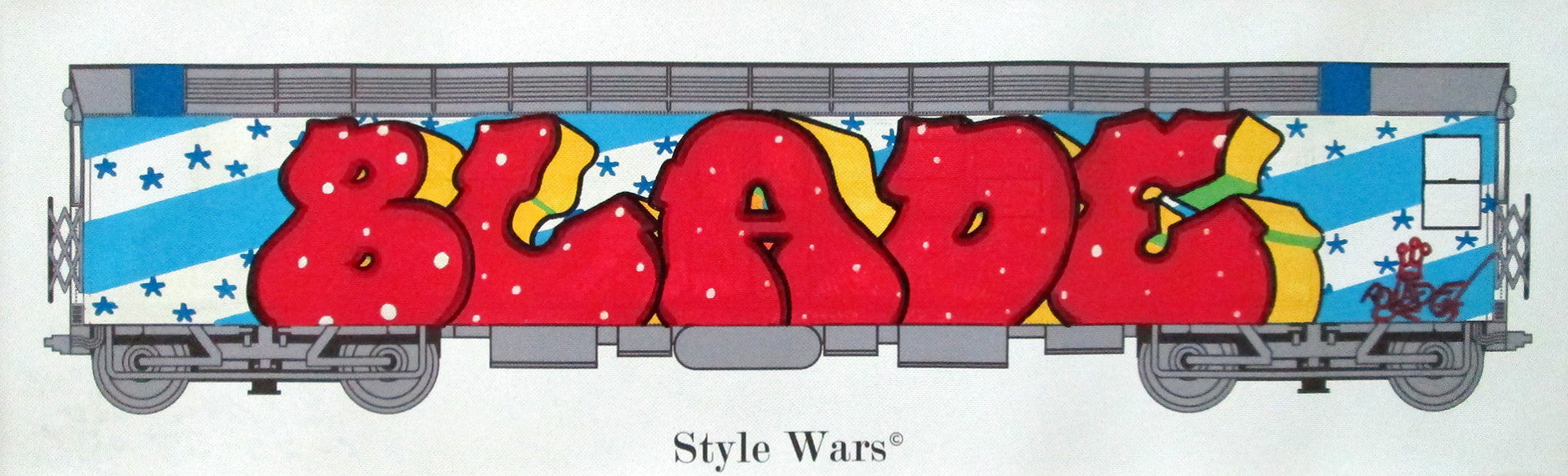 "BLADE - ""Style Wars""- Piece on Canvas"