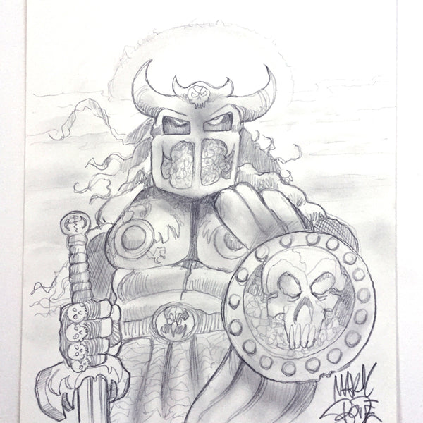 "MARK BODE  "" Warrior "" Drawing"