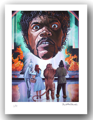 DAVE MACDOWELL - Bad Mutha Wizard -Print