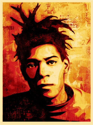 "SHEPARD FAIREY - ""Basquiat Canvas Print"""