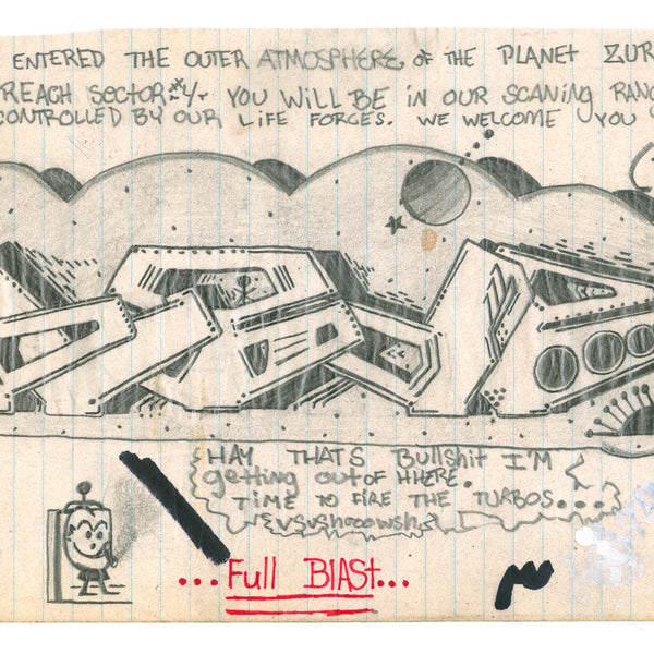 "BLADE - ""Future Odyssey ""- Original Drawing for train 1978"