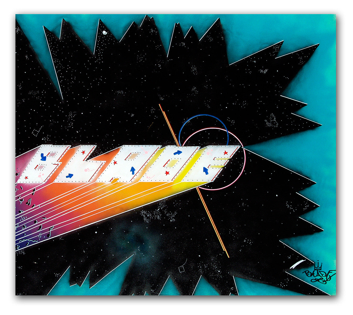 "BLADE - ""Distant Traveler""- Painting (1987)"