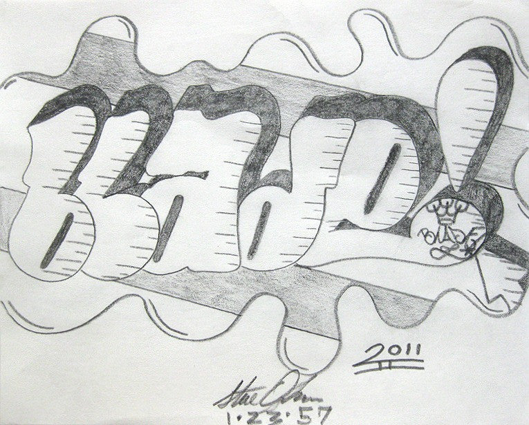 BLADE - Untitled - Pencil Black Book Drawing