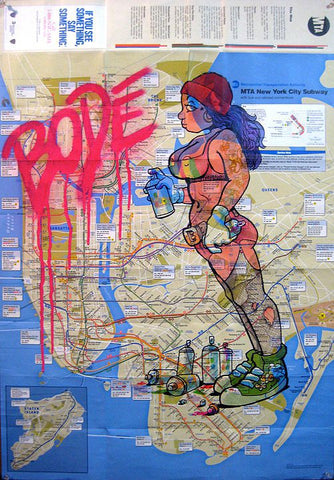 "MARK BODE  ""Tag Me Up Baby"" Map"