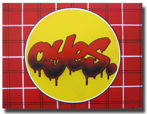 "YES2 - ""OYES"" painting"