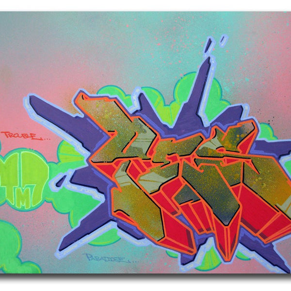 "YES2 - ""Trouble 2"" painting"
