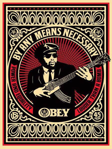 "SHEPARD FAIREY - ""By any means Necessary"" Red"