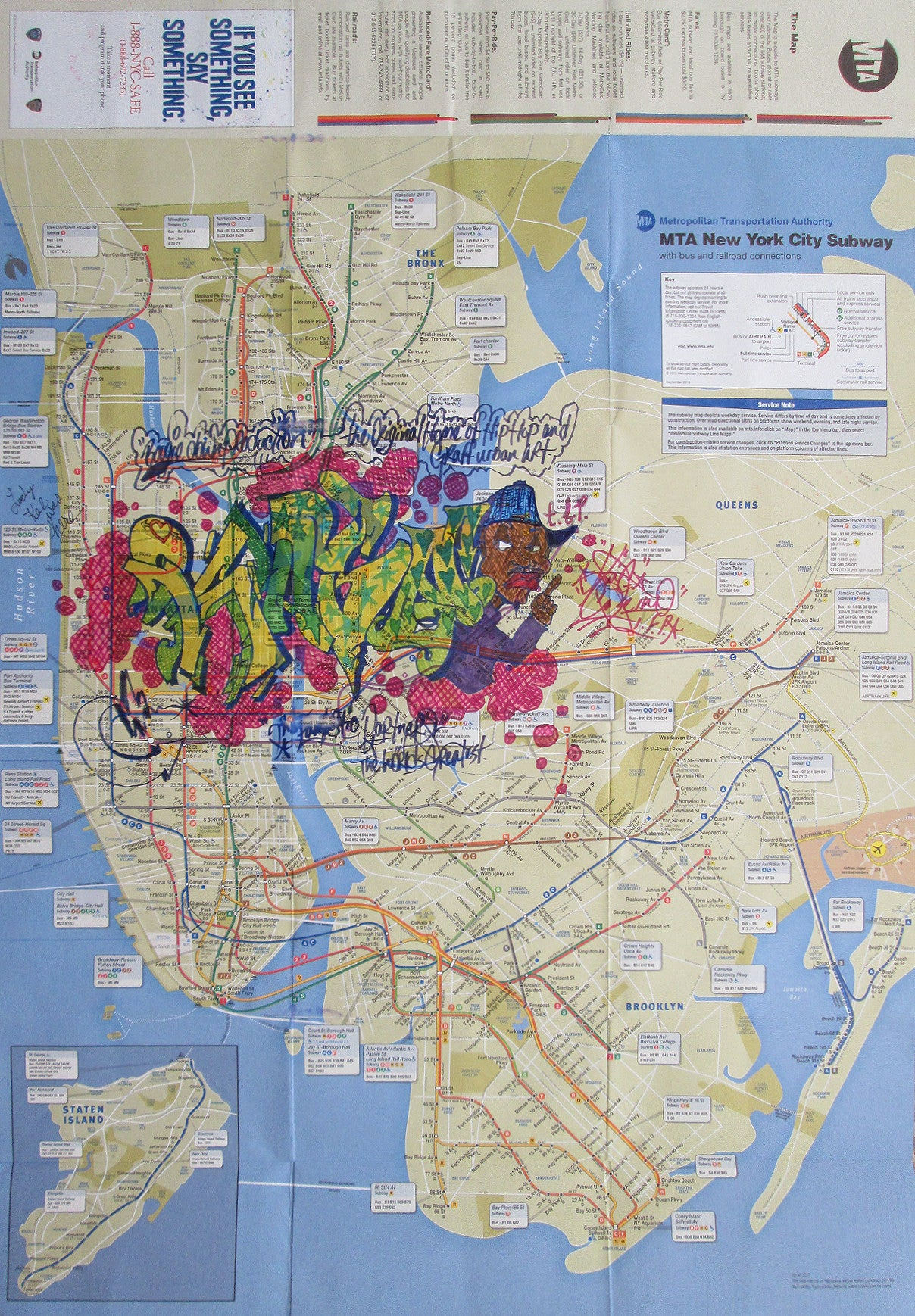 "KASE2  CASE2 -  ""Untitled""  NYC Transit Map"