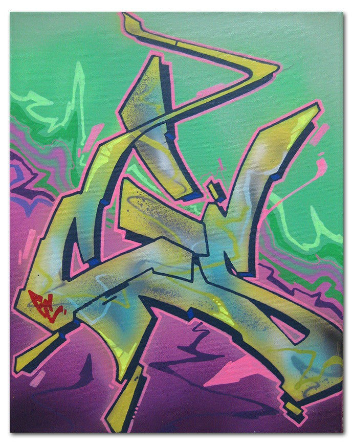 "CES ONE   ""Untitled 2"" Painting"