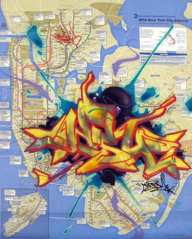 "CES-ONE -  ""Untitled 1"" NYC Map"