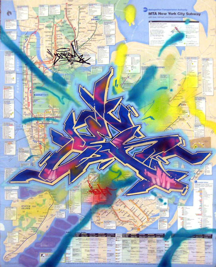"CES-ONE -  ""Untitled 5"" NYC Map"