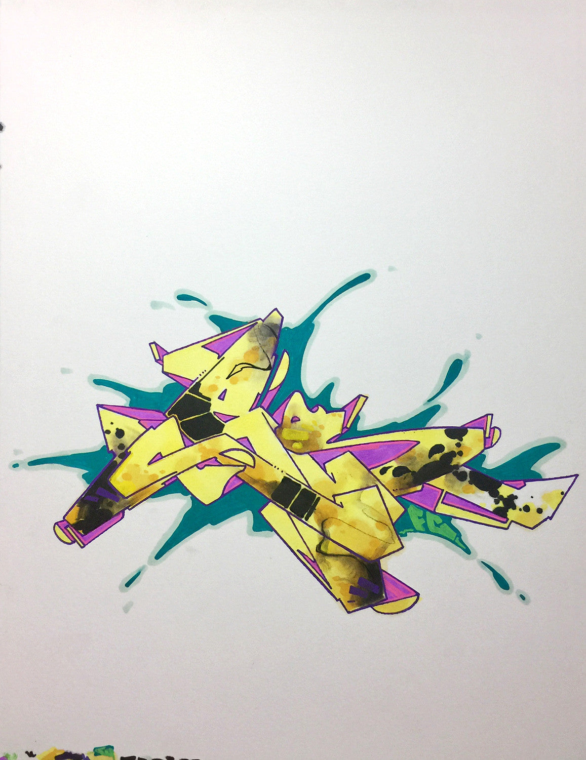 "CES ONE- ""Burner 2"" BlackBook Drawing"