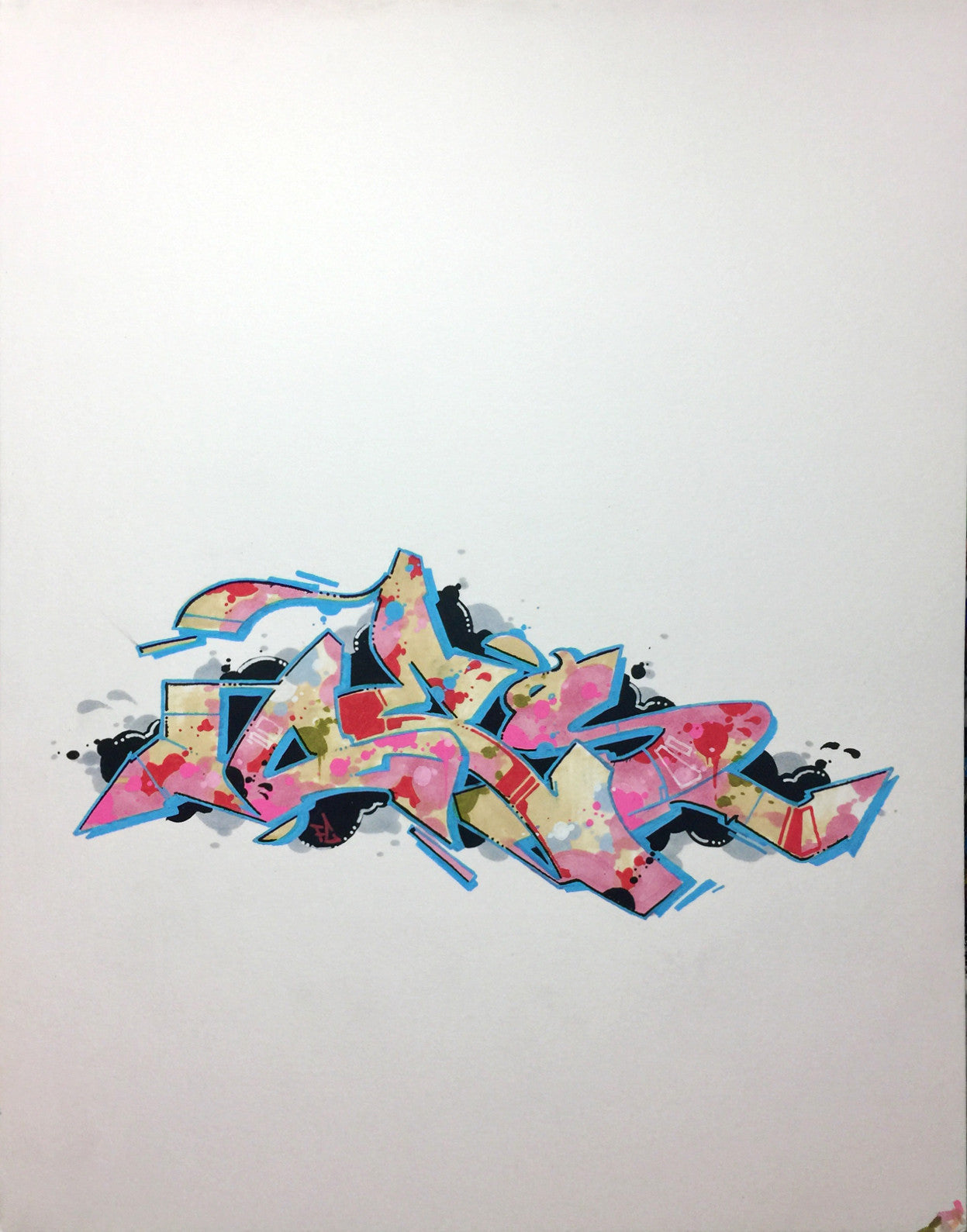 "CES ONE- ""Burner 4"" BlackBook Drawing"