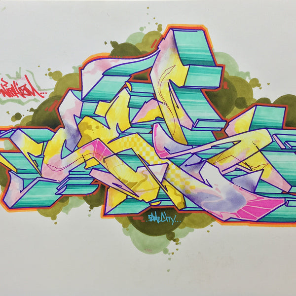"CES ONE- ""Burner 1"" BlackBook Drawing"