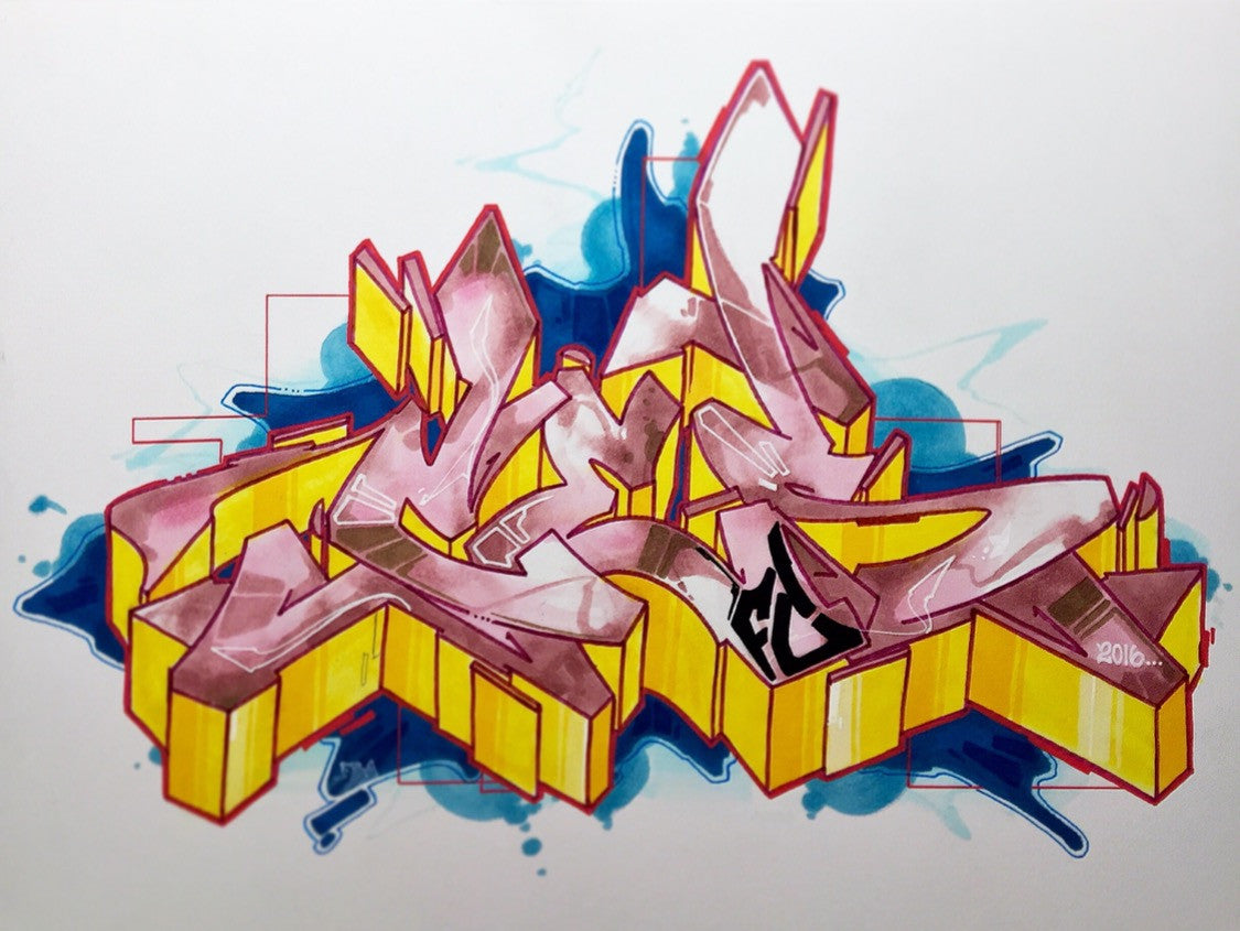 "CES ONE  ""Burner 2"" BlackBook Drawing"
