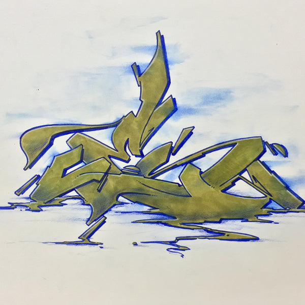 "CES ONE- ""Burner 3"" BlackBook Drawing"