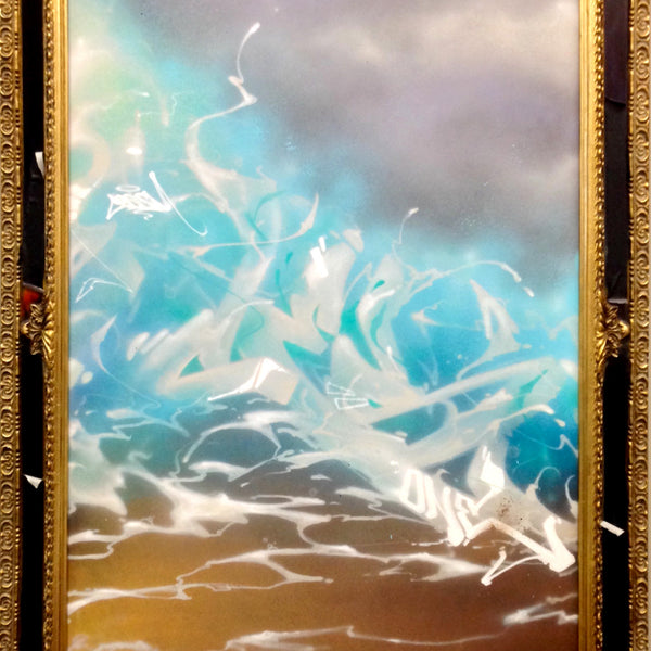 "CES ONE  - ""Clouds"" Painting"