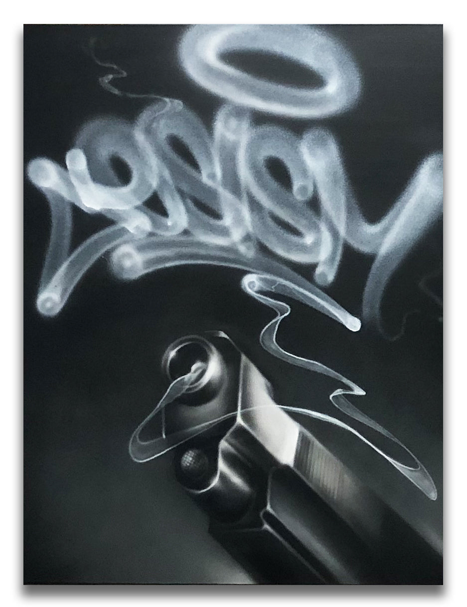 "CES ONE ""Smoke2 (Gun)"" Painting"