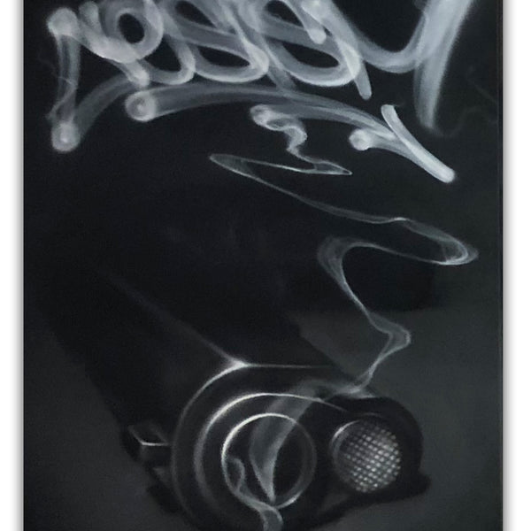 "CES ONE  ""Smoke3 (Gun)"" Painting"
