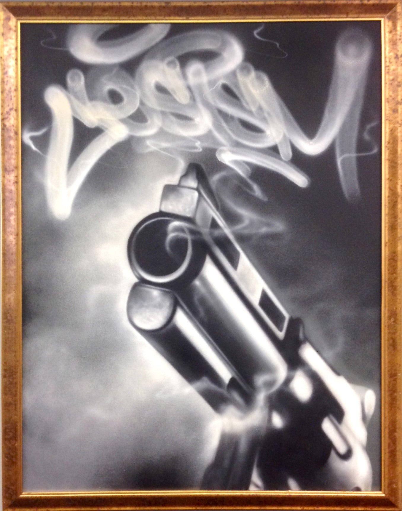 "CES ONE  - ""Smok'in"" Painting"
