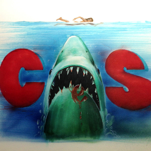 "CES ONE- ""Jaws"" BlackBook Drawing"