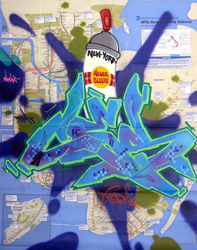 "CES-ONE -  ""NY Never Sleeps"" NYC Map"