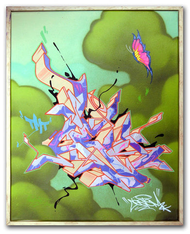 "CES ONE - ""Untitled Butterfly"" Painting"