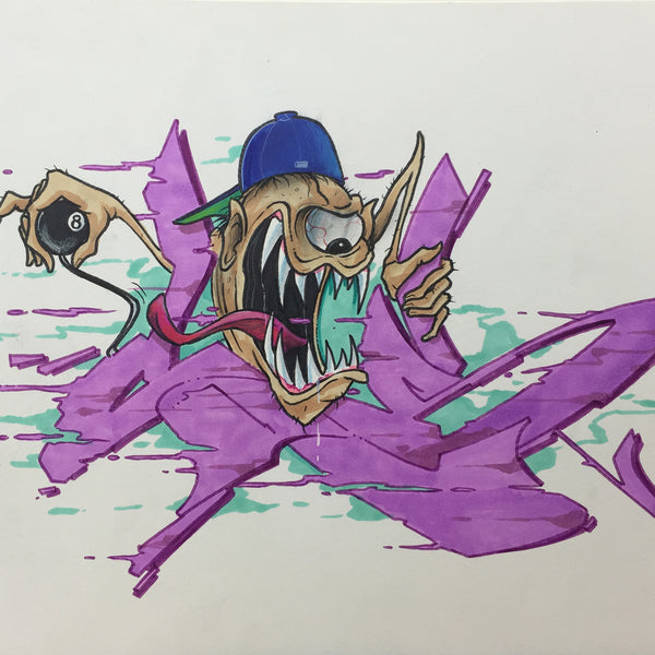 "CES ONE  ""Shifty"" BlackBook Drawing"