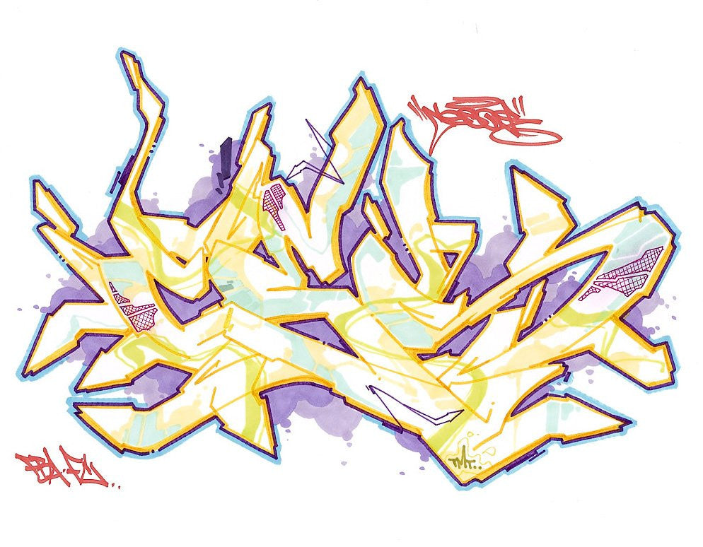 "CES ONE- ""Untitled 3"" BlackBook Drawing"