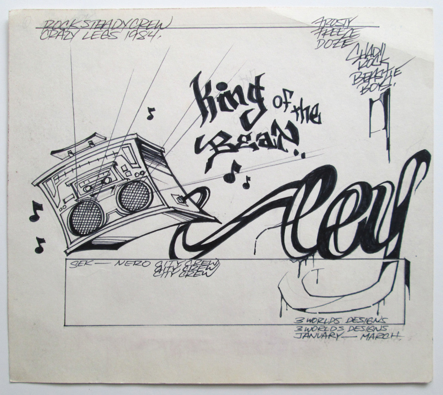 "CEY -  ""King of the Beat""  Drawing 1983"