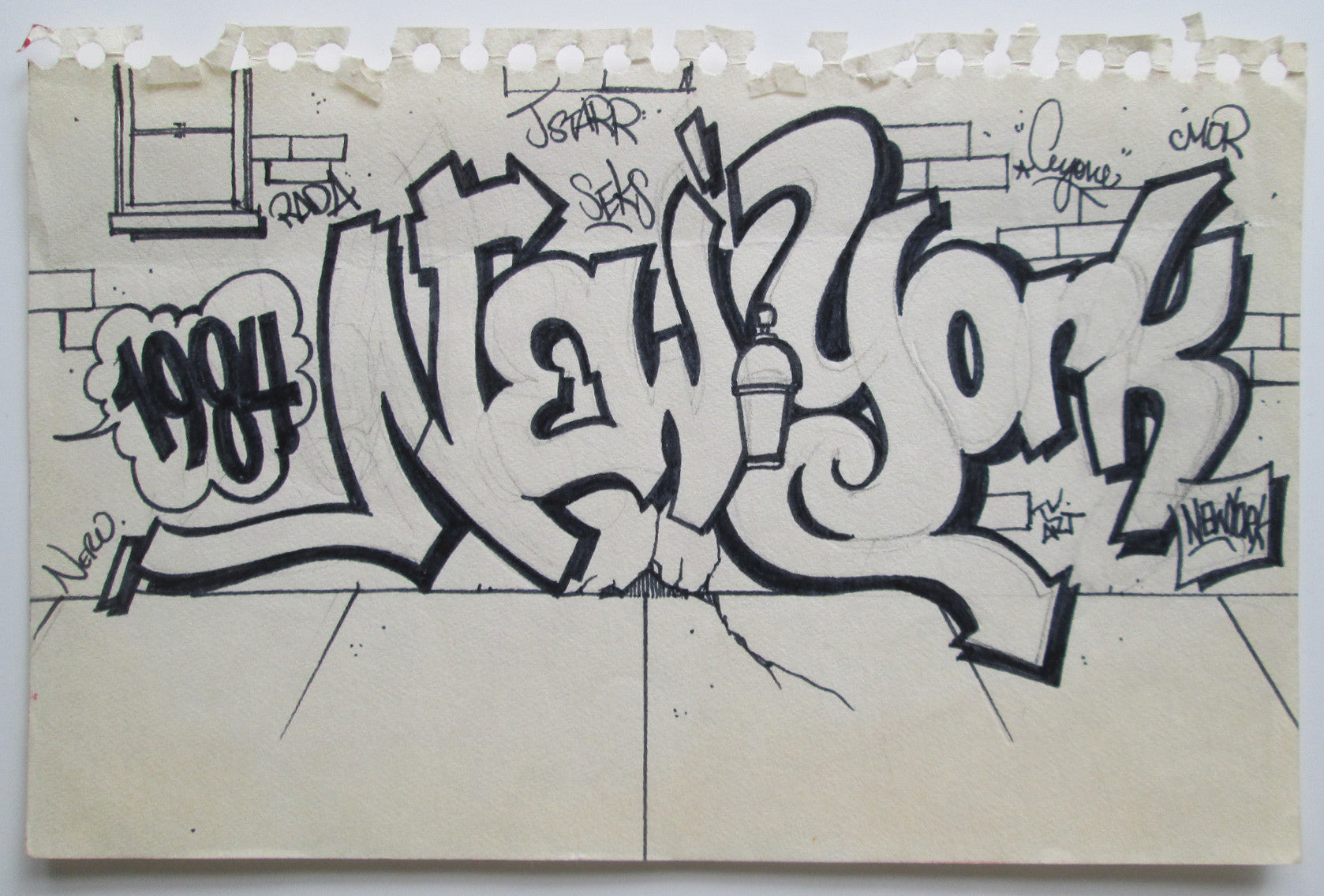 "CEY -  ""New York""  Drawing 1984"