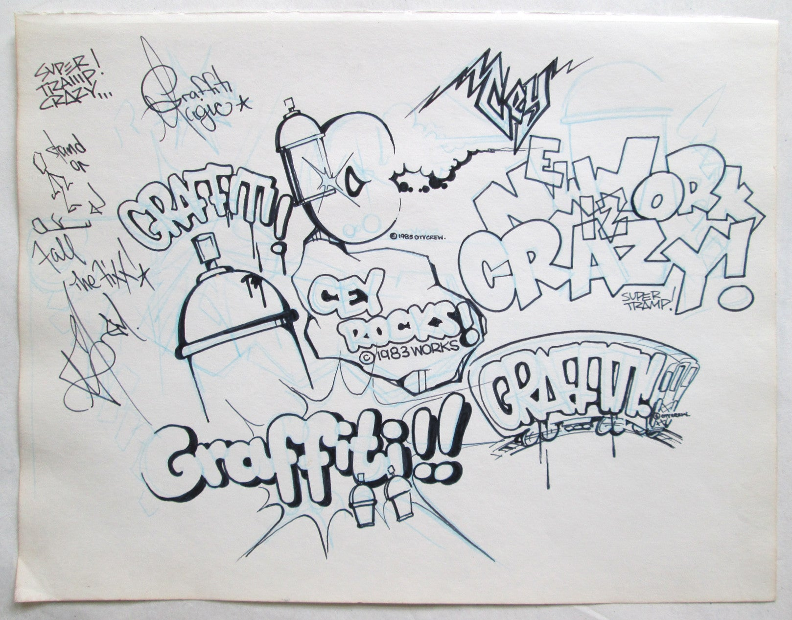 "CEY -  ""Rocks/Graffiti""  Drawing 1983"