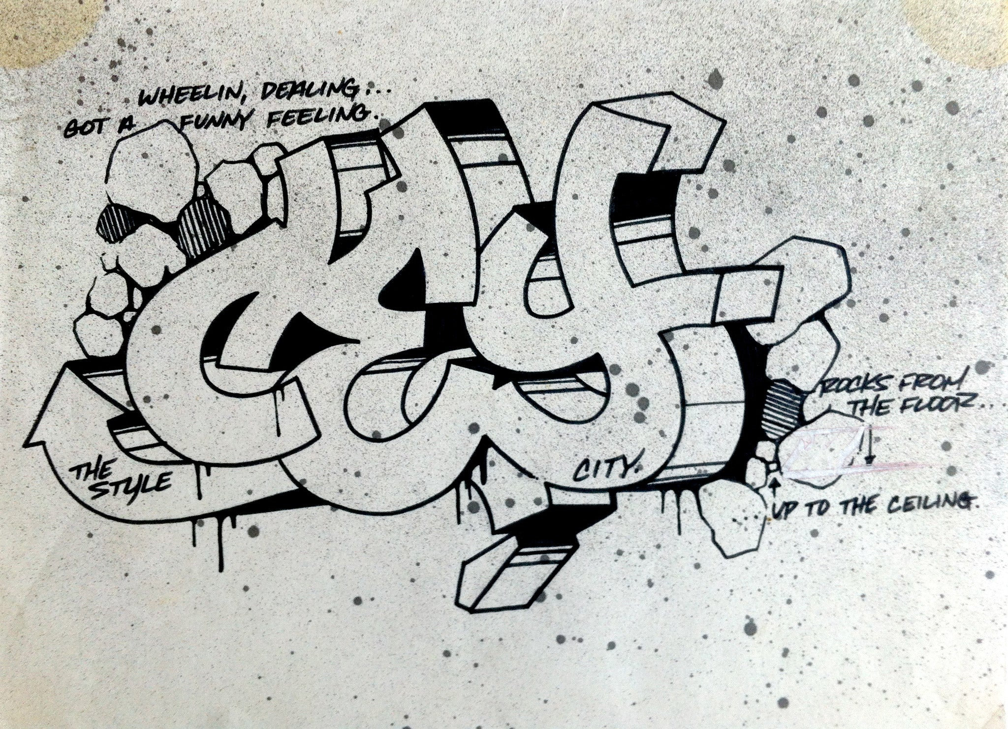 "CEY -  ""Wheelin""  Drawing 1983"
