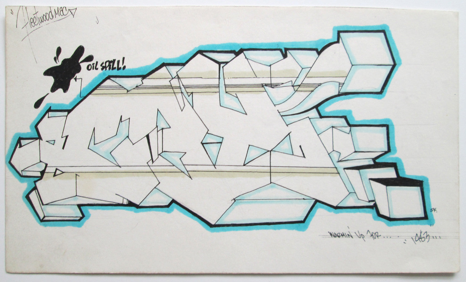 "CEY - ""WildStyle (Fleetwood Mac)Drawing 1983"