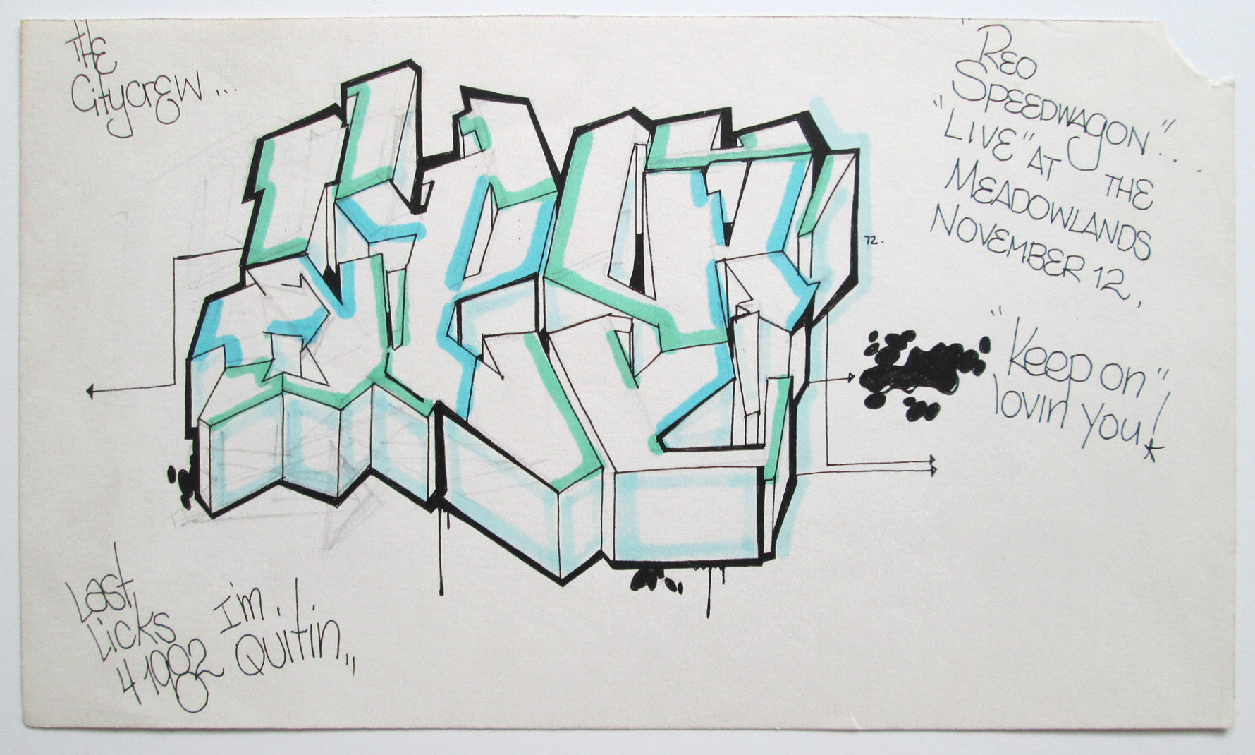 "CEY -  ""WildStyle""  Drawing 1982"