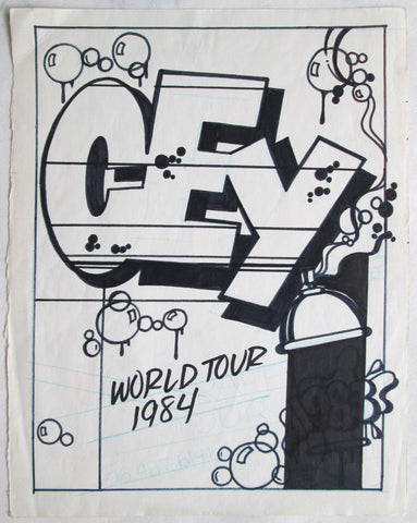 "CEY -  ""World Tour""  Drawing 1984"