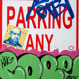 "COPE 2 - ""Green Classic Bubble #1"" No Parking Sign"