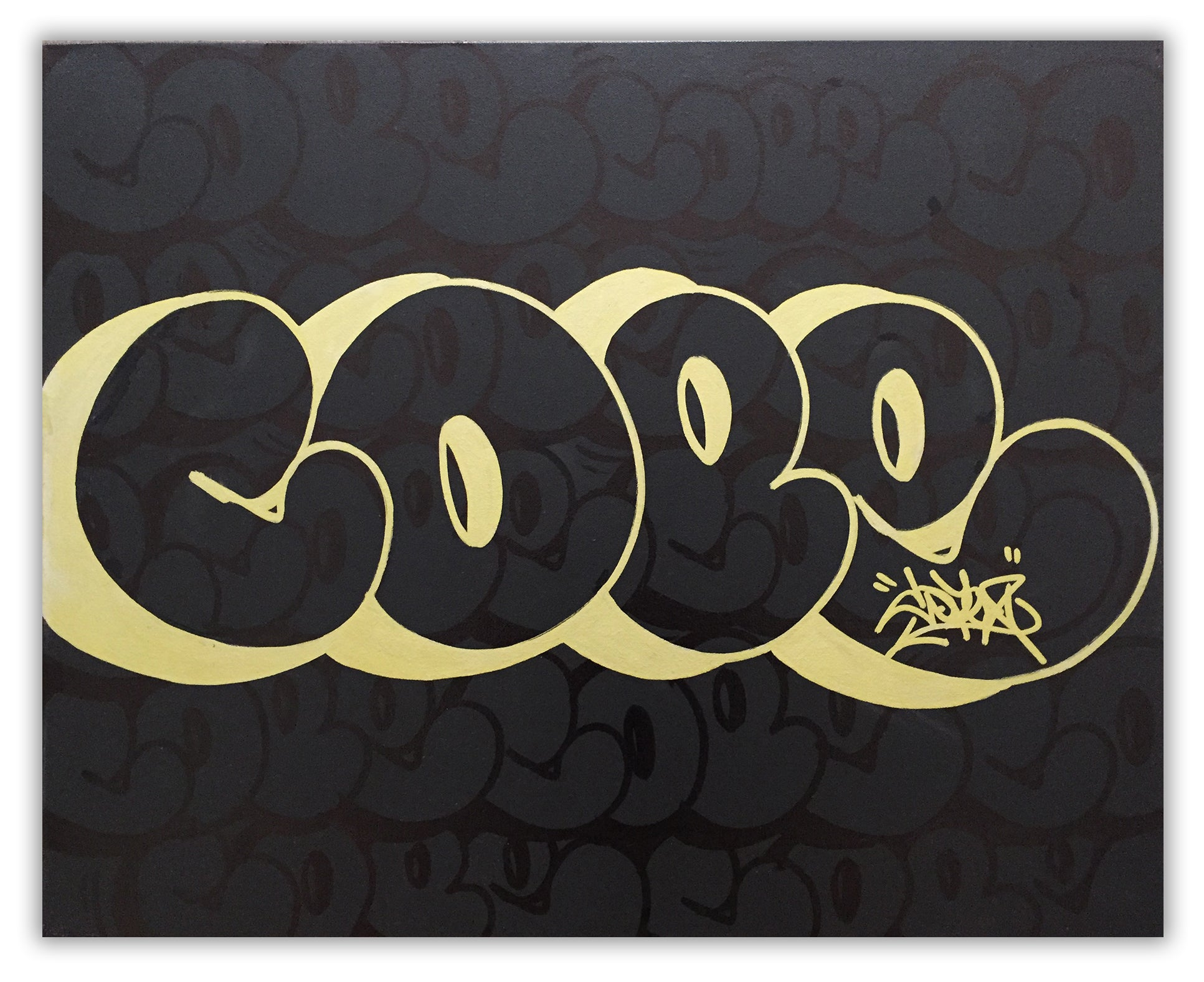 "COPE2  ""GOLD "" 30"" x 24"" Painting"