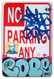 "COPE 2 - ""Blue Classic Bubble #1"" No Parking Sign"