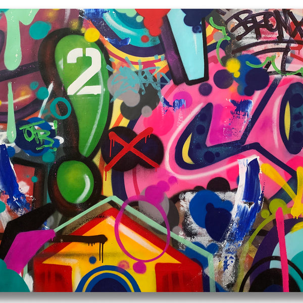 "COPE2 ""Bronx"" 45"" x 56"" Painting"
