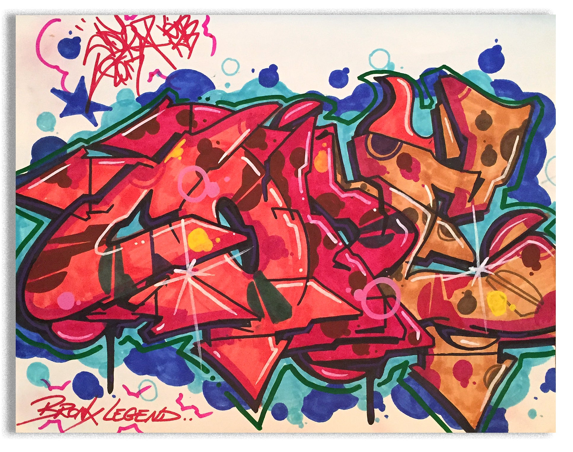 "COPE 2 - ""Bronx Legend"" Black Book Drawing"