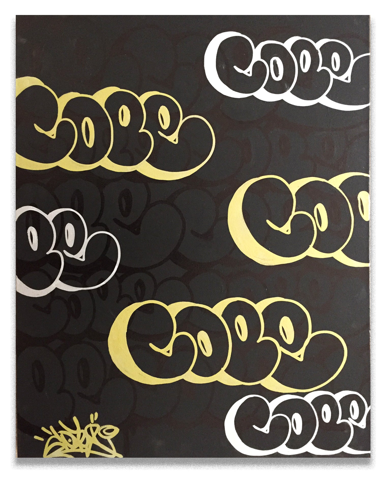 "COPE2  ""GOLD2 "" 30"" x 24"" Painting"