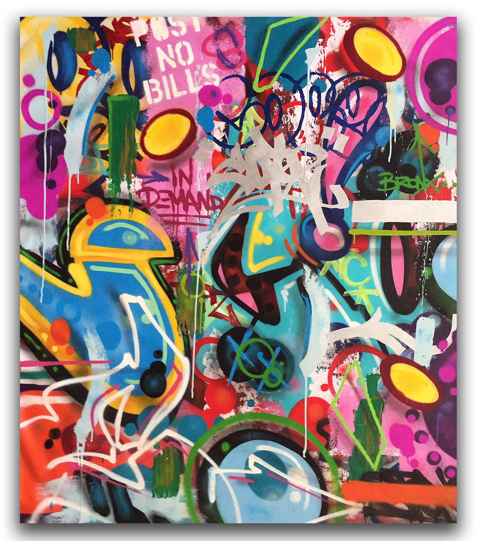 "COPE2 ""In Demand ""54"" x 63"" Painting"