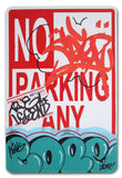 "COPE 2 - ""Turquoise Classic Bubble 36"" No Parking Sign"