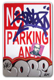 "COPE 2 - ""Silver Classic Bubble #30"" No Parking Sign"