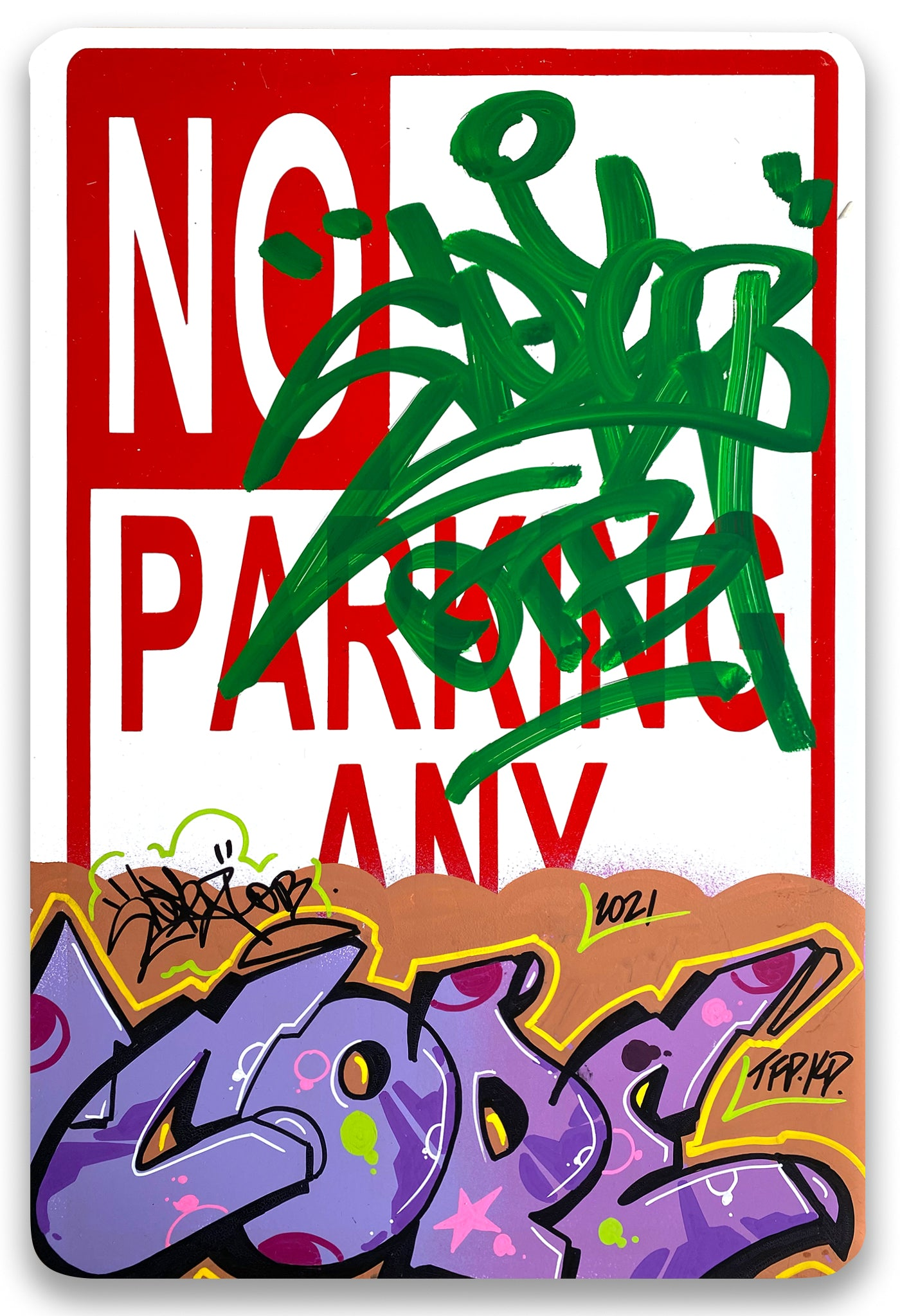 "COPE 2 - ""COPE2""  No Parking Sign"