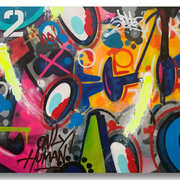 "COPE2 ""Only Human"" 45"" x 56"" Painting"